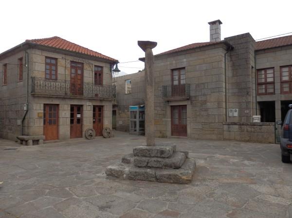 El Pelourinho o picota. Aquí se amarraban los presos mientras eran juzgados.